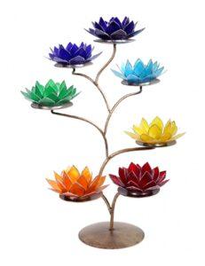 Soporte metal flores de loto